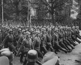 German_Troops_Parade_Through_Warsaw_Poland