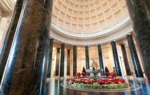 The interior of the domed rotunda of the West Building of the National Gallery of Art. The NGA's main entrance was designed to elevate and ennoble the art inside. Photo credit: Lee Sandstead.