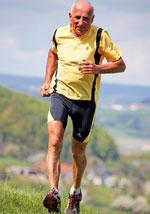 Elderly jogger