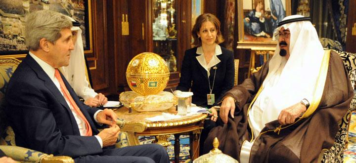 John Kerry and King Abdullah