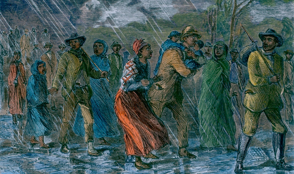 Image: Everett Historical, Fugitive slaves fleeing from Maryland